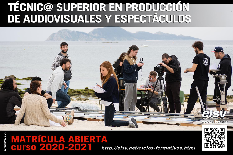 Matricula 2020 - 2021 Técnico Superior en Producción de Audiovisuales y Espectáculos