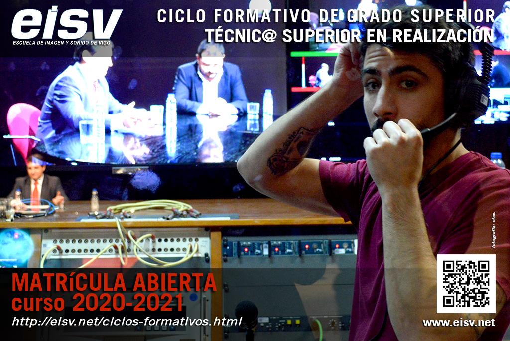 Matricula 2020 - 2021 Técnico Superior en Realización de Audiovisuales y Espectáculos