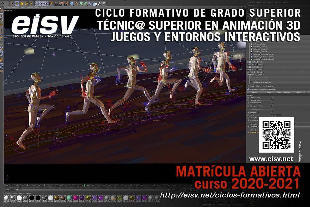 Matricula 2020 - 2021 Técnico Superior en Animación 3D, Videojuegos y Entornos Interactivos