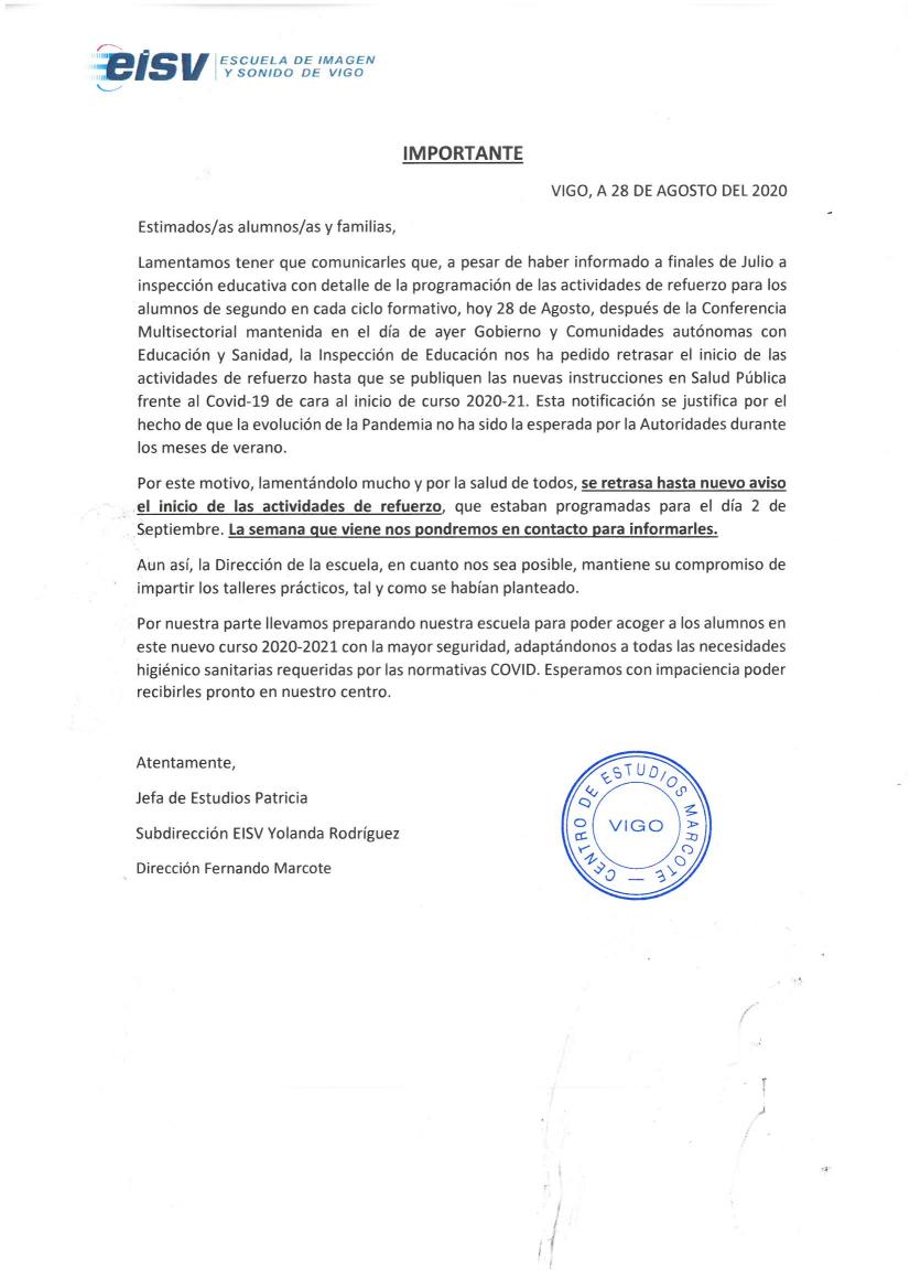 Documento circular 2 de Agosto